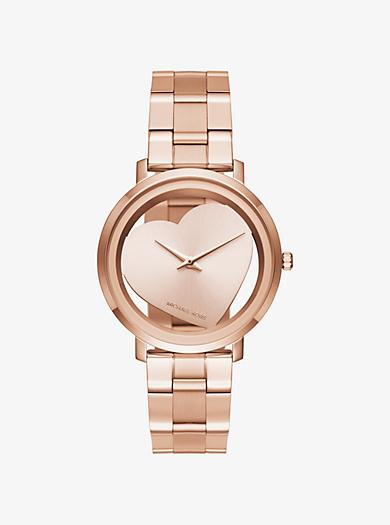 Jaryn Rose Gold-Tone Heart Watch by Michael Kors