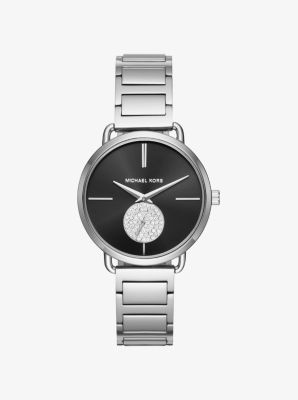 michael kors designer watches neqq  Portia Silver-Tone Watch