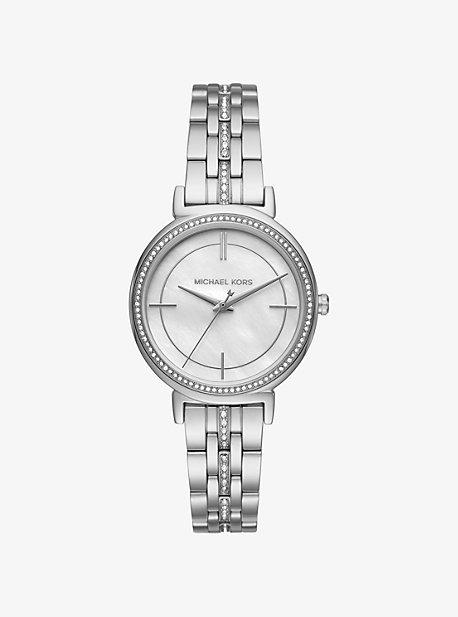 Cinthia Pave Silver-Tone Watch