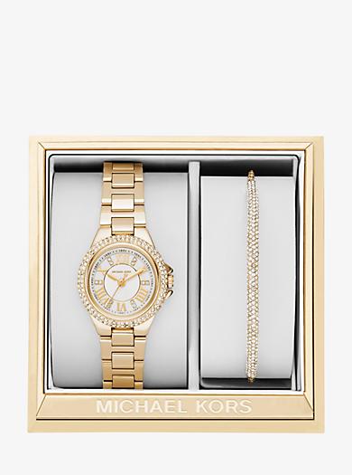 Set orologio e bracciale Camille piccolo tonalità oro by Michael Kors