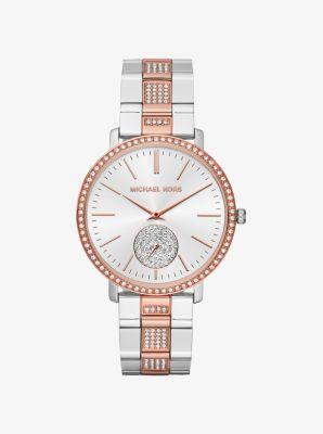 Jaryn Pavé Two-Tone Watch by Michael Kors