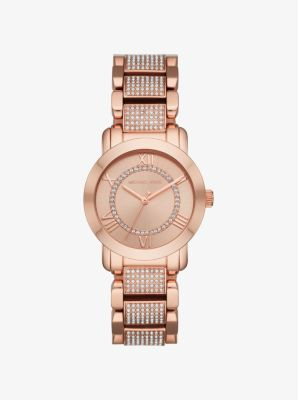 Michael Kors Tiffany Rose Gold-Tone Watch,ROSE GOLD