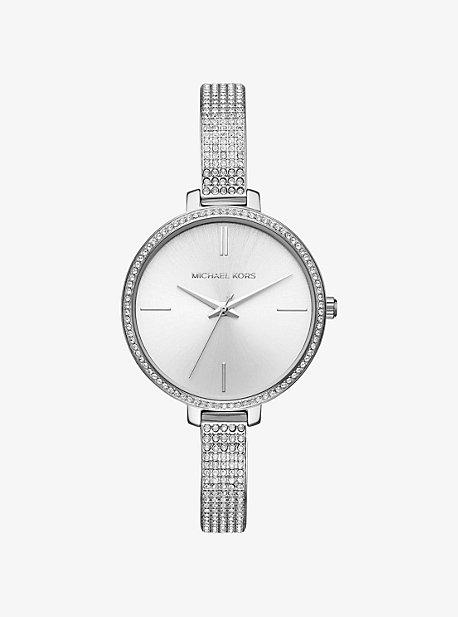 Jaryn Pave Silver-Tone Watch