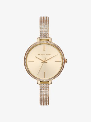 마이클 코어스 메탈 시계 Michael Kors Jaryn Pavé Gold-Tone Watch,GOLD