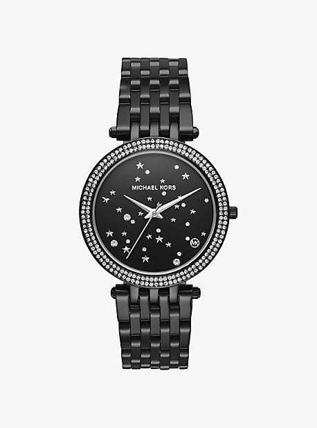 Darci Celestial Pave Black-Tone Watch