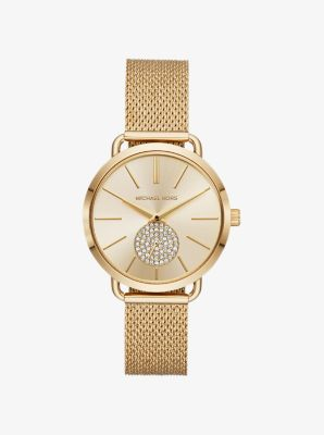 마이클 코어스 메탈 시계 Michael Kors Portia Mesh Gold-Tone Watch,GOLD