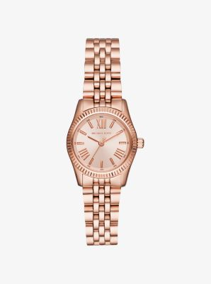 마이클 코어스 메탈 시계 Michael Kors Petite Lexington Rose Gold-Tone Watch,ROSE GOLD