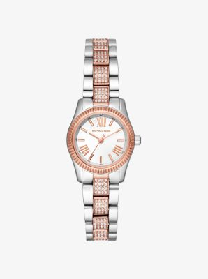 마이클 코어스 메탈 시계 Michael Kors Petite Lexington Pavé Two-Tone Watch,TWO TONE