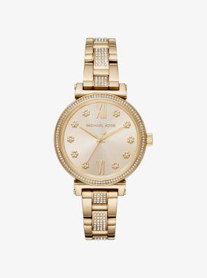 마이클 코어스 메탈 시계 Michael Kors Sofie Pave Gold-Tone Watch,GOLD