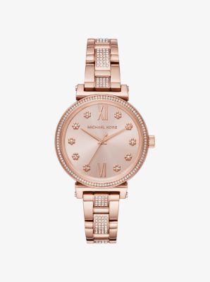 마이클 코어스 메탈 시계 Michael Kors Sofie Pave Rose Gold-Tone Watch,ROSE GOLD