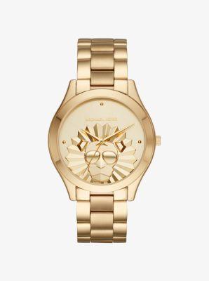 마이클 코어스 메탈 시계 Michael Kors Slim Runway Gold-Tone Watch,GOLD