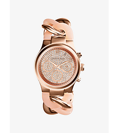 Runway Twist Rose Gold-Tone Stainless Steel Watch