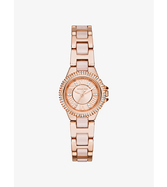 Petite Camille Embellished Rose Gold-Tone Stainless Steel Watch