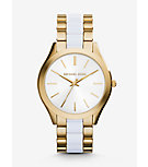 Slim Runway Gold-Tone Acetate Watch