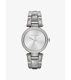 Delray Pavé Silver-Tone Watch by Michael Kors