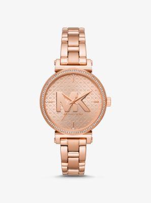 Michael Kors Sofie Rose Gold-Tone Watch,ROSE GOLD