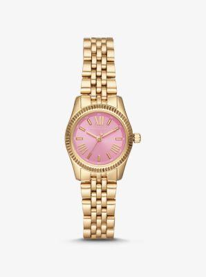 Michael Kors Petite Lexington Gold-Tone Watch,GOLD