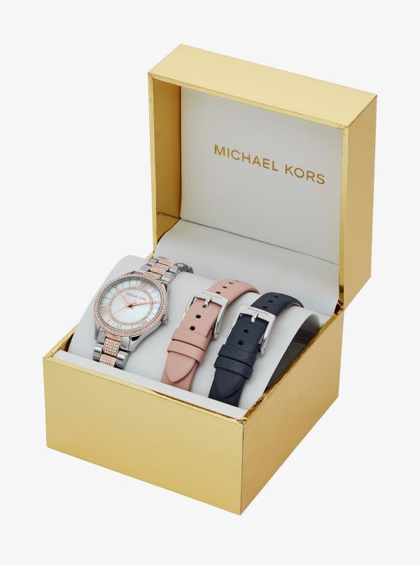 Michael Kors - Mini Lauryn Pave Two-Tone Watch Set - 2