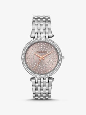 Michael Kors Darci Celestial Pave Silver-Tone Watch,SILVER