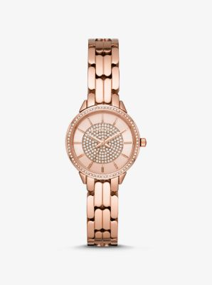 Michael Kors Mini Madelyn Rose Gold-Tone Watch,ROSE GOLD