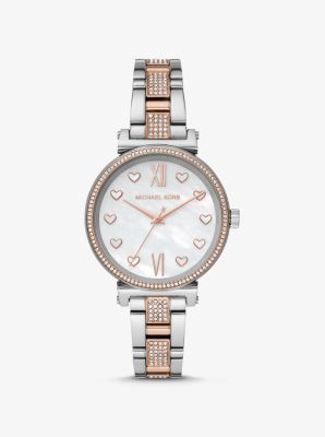 Michael Kors Sofie Pave Two-Tone Watch,TWO TONE