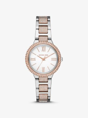 Michael Kors Taryn Pave Two-Tone Watch,TWO TONE