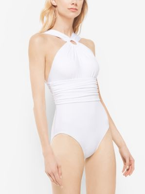 Shirred Halter Maillot by Michael Kors