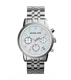 Ritz Silver-Tone Stainless Steel Watch