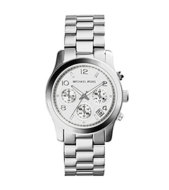 Runway Silver-Tone Stainless Steel Chronograph Watch