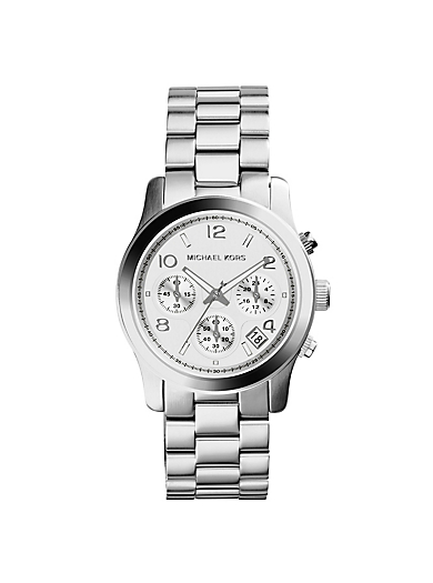 Runway Silver-Tone Stainless Steel Chronograph Watch by Michael Kors