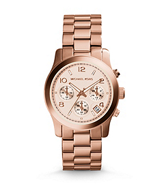 Rose Gold-Tone Stainless Steel Chronograph Runway Watch