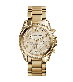 Blair Gold-Tone Stainless Steel Chronograph Watch