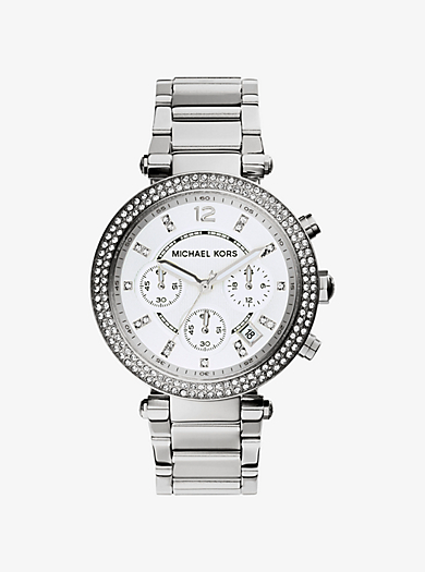 Parker Silver-Tone Watch by Michael Kors