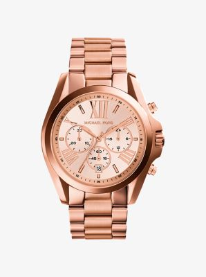 Oversized Bradshaw Rose Gold-Tone Watch by Michael Kors