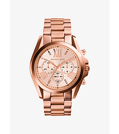 Oversized Bradshaw Rose Gold-Tone Stainless Steel Watch