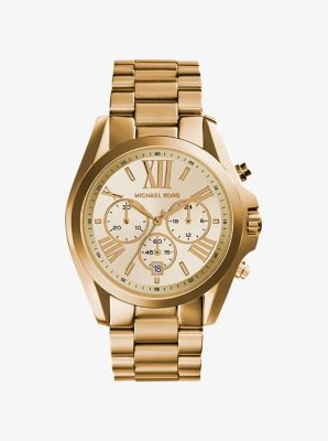 Bradshaw Gold-Tone Stainless Steel Watch by Michael Kors