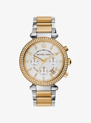 Parker Two-Tone Stainless Steel Watch by Michael Kors