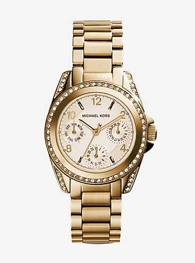 Mini Blair Gold-Tone Watch by Michael Kors