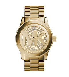 Runway Logo Rose Gold-Tone Stainless Steel Watch