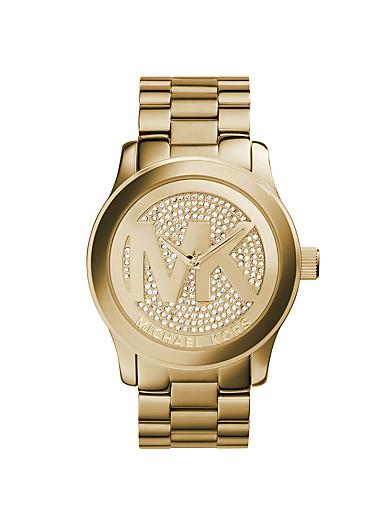 Runway Logo Rose Gold-Tone Watch by Michael Kors