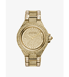 Camille Pavé-Embellished Gold-Tone Stainless Steel Watch