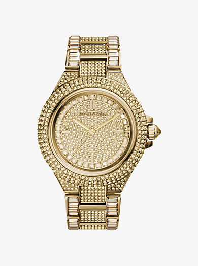 Camille Pavé Gold-Tone Watch by Michael Kors