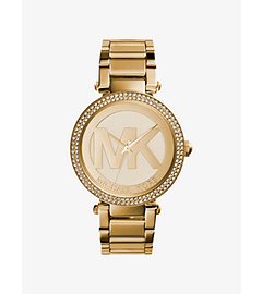 Parker Pavé-Embellished Gold-Tone Watch
