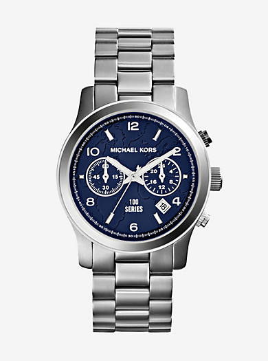Watch Hunger Stop Runway Silver-Tone Watch by Michael Kors
