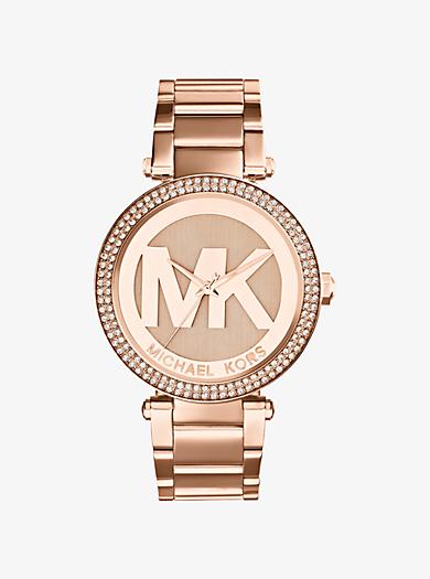 Parker Pavé Rose Gold-Tone Watch by Michael Kors