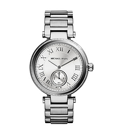 Skylar Pavé-Embellished Silver-Tone Stainless Steel Watch