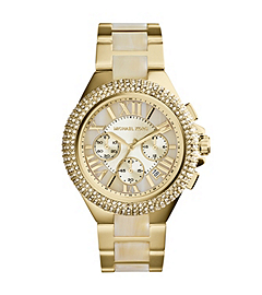 Camille Embellished Horn Acetate Watch