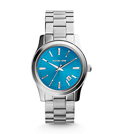 Runway Turquoise-Dial Silver-Tone Stainless Steel Watch