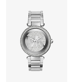 Parker Pavé-Embellished Silver-Tone Stainless Steel Watch