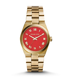 Channing Coral and Gold-Tone Stainless Steel Watch